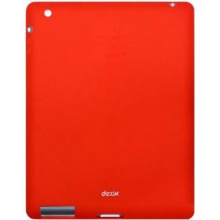 Чехол-накладка Dexim iPad 2/3/4 силикон красный