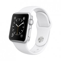 Apple Watch Sport 38mm Silver Aluminum Case with White Sport Band MJ2T2 Новий