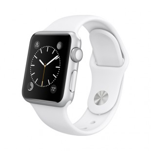 Apple Watch Sport 38mm Silver Aluminum Case with White Sport Band MJ2T2 Новый