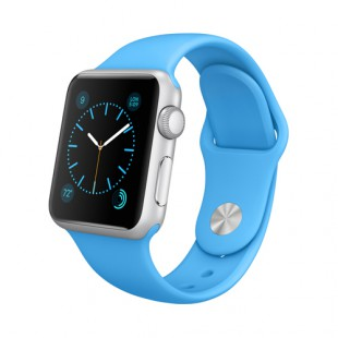 Apple Watch Sport 38mm Silver Aluminum Case with Blue Sport Band MJ2V2 Новый