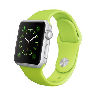 Apple Watch Sport 38mm Silver Aluminum Case with Green Sport Band MJ2U2 Новый