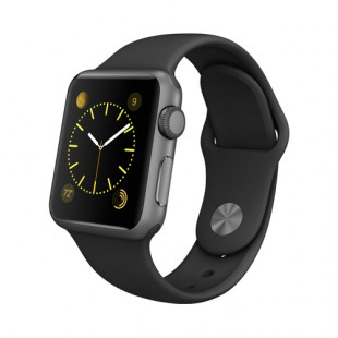 Apple Watch Sport 38mm Space Gray Aluminum Case with Black Sport Band MJ2X2 Новый