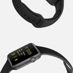 Apple Watch Sport 42mm Space Gray Aluminum Case with Black Sport Band MJ3T2 Новий