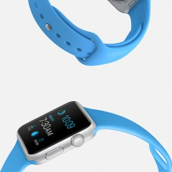 Apple Watch Sport 42mm Silver Aluminum Case with Blue Sport Band MJ3Q2 Новий