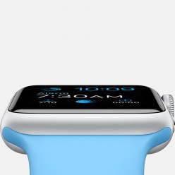 Apple Watch Sport 38mm Silver Aluminum Case with Blue Sport Band MJ2V2 Новий