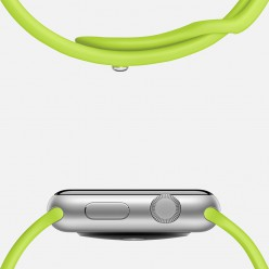 Apple Watch Sport 42mm Silver Aluminum Case with Green Sport Band MJ3P2 Новий