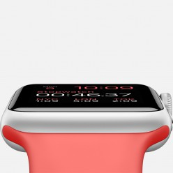 Apple Watch Sport 38mm Silver Aluminum Case with Pink Sport Band MJ2W2 Новий