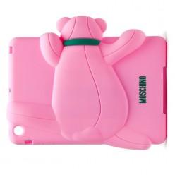 Чехол-накладка Moschino Case iPad mini 1/2/3 силикон розовый
