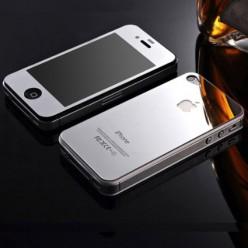 Glass Color For iPhone 4/4s глянцевый серебряный