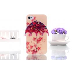 Чехол-накладка Umbrella Case iPhone 4/4s силикон разноцветный