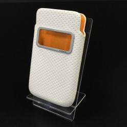 Чехол-карман Capdase Smart Pocket Case iPhone 4/4s экокожа белый