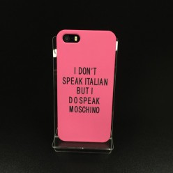Чехол-накладка Soft Touch Case iPhone 5/5s пластик розовый