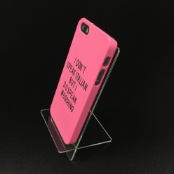 Чохол-накладка Soft Touch Case iPhone 5/5s пластик рожевий