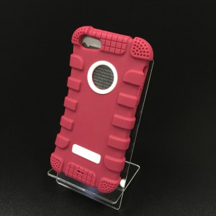 Чохол-накладкаHoco Antigravity Case iPhone 5/5s силікон/пластик рожевий