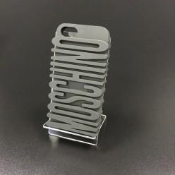 Чохол-накладка Moschino Case iPhone 5/5s силікон сірий