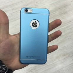 Чохол-накладка Totu Jaeger Case iPhone 6/6s метал голубий