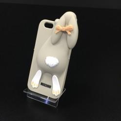 Чехол-накладка Moschino Rabbit iPhone 6/6s силикон серый