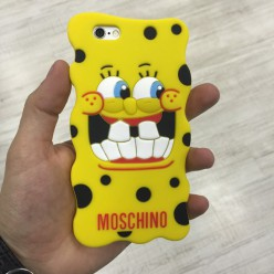 Чохол-накладка Moschio Sponge Bob Case iPhone 6/6s силікон жовтий