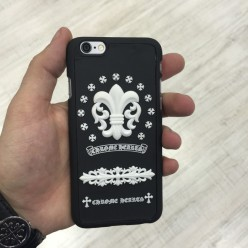 Чохол-накладка Chrome Hearts Case iPhone 6/6s пластик чорний