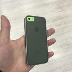 Чехол-накладка Usams iPhone 5c X-Match Series силикон серый
