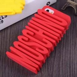 Чехол-накладка Moschino Case iPhone 5/5s силикон красный