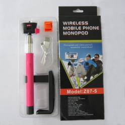 Монопад для iPhone DoSelfie Monopod Z07-5 Bluetooth рожевий