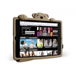 Чехол-накладка Moschino Case iPad mini 1/2/3 силикон коричневый