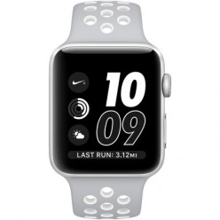 Apple Watch Series 2 Nike+ 42mm Silver Aluminum Case with Flat Silver/White Nike Sport Band (MNNT2)