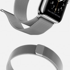 Apple Watch 42mm Stainless Steel Case with Milanese Loop MJ3Y2 Новый