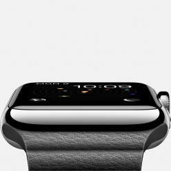 Apple Watch 42mm Stainless Steel Case with Black Leather Loop MJYN2 Новый