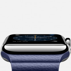 Apple Watch 42mm Stainless Steel Case with Bright Blue Leather Loop MJ452 Новый