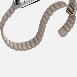 Apple Watch 42mm Stainless Steel Case with Stone Leather Loop MJ432 Новый