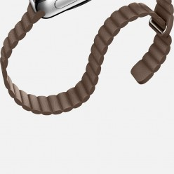 Apple Watch 42mm Stainless Steel Case with Light Brown Leather Loop MJ402 Новый