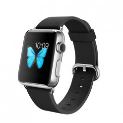 Apple Watch 38mm Stainless Steel Case with Black Classic Buckle MJ312 Новий