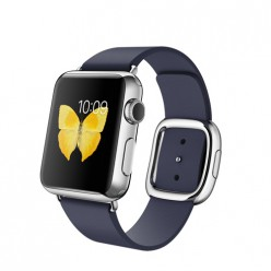 Apple Watch 38mm Stainless Steel Case with Midnight Blue Modern Buckle MJ332 Новый