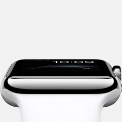Apple Watch 38mm Stainless Steel Case with White Sport Band MJ302 Новий