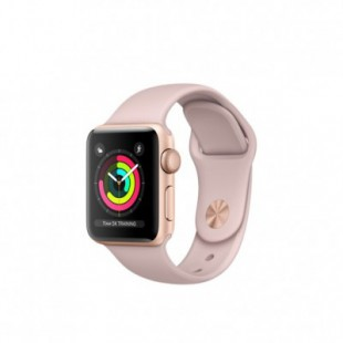 Apple Watch Series 3 (GPS) 38mm Gold Aluminum w. Pink Sand Sport B. - Gold (MQKW2)
