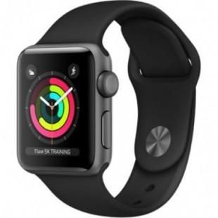 Apple Watch Series 3 (GPS) 38mm Space Gray Aluminum w. Black Sport B. - Space Gray (MQKV2)