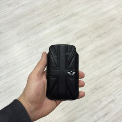 Чехол-карман Mini Cooper Leather Case iPhone 4/4s экокожа черный