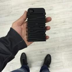 Чехол-накладка Moschino Case iPhone 4/4s силикон/пластик черный
