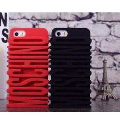 Чехол-накладка Moschino Case iPhone 4/4s силикон черный