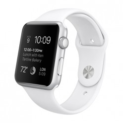 Apple Watch Sport 42mm Silver Aluminum Case with White Sport Band MJ3N2 Новый