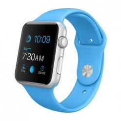 Apple Watch Sport 42mm Silver Aluminum Case with Blue Sport Band MJ3Q2 Новый