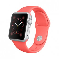 Apple Watch Sport 38mm Silver Aluminum Case with Pink Sport Band MJ2W2 Новый