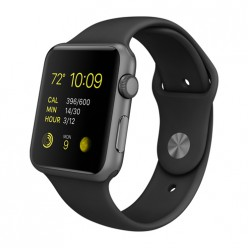 Apple Watch Sport 42mm Space Gray Aluminum Case with Black Sport Band MJ3T2 Новый CPO