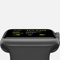 Apple Watch Sport 42mm Space Gray Aluminum Case with Black Sport Band MJ3T2 Новый