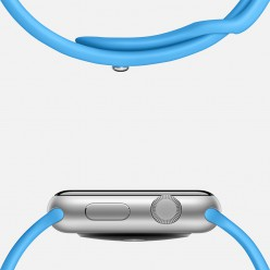 Apple Watch Sport 38mm Silver Aluminum Case with Blue Sport Band MJ2V2 Новый