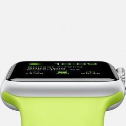 Apple Watch Sport 38mm Silver Aluminum Case with Green Sport Band MJ2U2 Новый