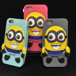 Чехол-накладка Minion Case iPhone 5/5s силикон голубой