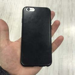 Чехол-накладка Под Кожу iPhone 6/6s экокожа черный